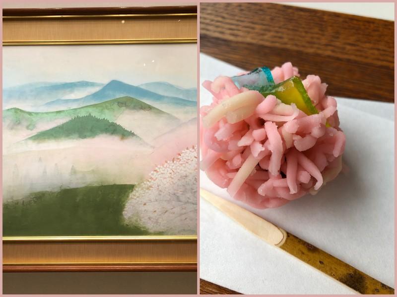 奥村土牛「吉野」&菊屋の生菓子