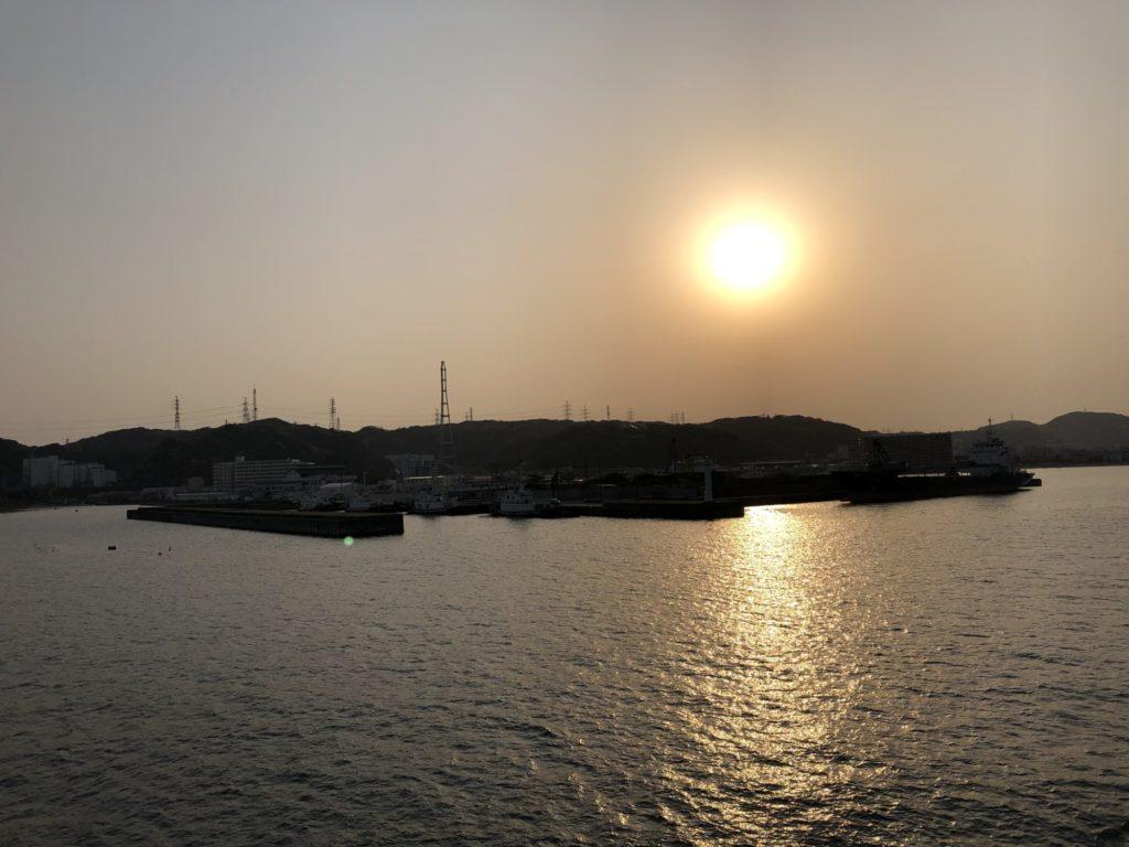 久里浜の夕日