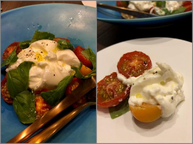 プッターラチーズとトマトのマリネ_オステリア・デル・チャオ